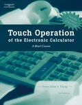 Touch Operation of the Electronic Calculator