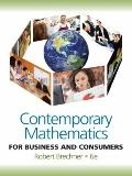 Contemporary Mathematics for Business and Consumers (with Student Resource CD with MathCue. ...