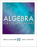 Algebra for College Students (Available 2011 Titles Enhanced Web Assign)