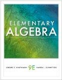 Student Solutions Manual for Kaufmann/Schwitters' Elementary Algebra, 9th