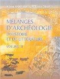 Mlanges d'archologie, d'histoire et de littrature: Collection de mmoires. Volume 2: Sur l'Or...