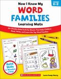 Now I Know My Word Families Learning Mats : 50+ Double-Sided Activity Sheets That Help Child...