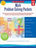 Math Problem-Solving Packets: Grade 1 : Mini-Lessons for the Interactive Whiteboard with Rep...
