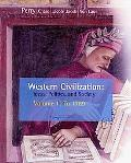 Western Civilization Volume One to 1789
