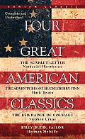 Four Great American Classics The Scarlet Letter, the Adventures of Huckleberry Finn, the Red...
