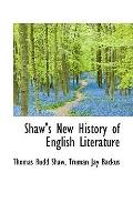 Shaw's New History Of English Literature