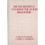 Measurement of Communication Behavior (Longman Communication Books)