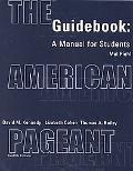 American Pageant Guidebook A Manual for Students