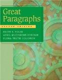 Great Paragraphs: An Introduction To Writing Paragraphs