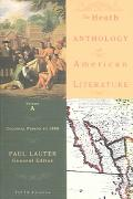 Heath Anthology Of American Literature Colonial Period To 1800