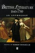 British Literature 1640-1789:anthology