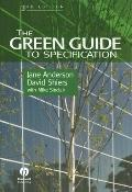 Green Guide to Specification An Environmental Profiling System for Building Materials and