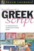 Teach Yourself Beginner's Greek Script