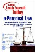 Sams Teach Yourself e-Personal Law today (Teach Yourself -- Today)