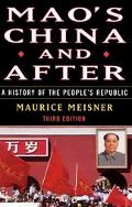 Mao's China and After A History of the People's Republic