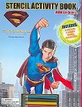 Superman Returns Stencil Activity Book