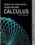 Single Variable Calculus Early Transcendentals Version Student Solutions Manual