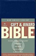 Gift & Award Bible New Century Version, Blue, Leatherflex