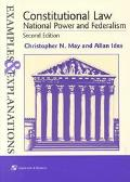 Constitutional Law National Power and Federalism