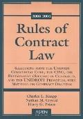 Rules of Contract Law 2003-2004