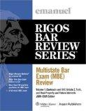 Multistate Bar Exam (MBE) Review Set (Emanuel's Rigos Bar Review Series)
