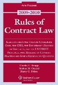 Rules of Contract Law 2009