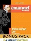 Emanuel Law Outlines: Administrative Law 2010 (Print + eBook Bonus Pack)