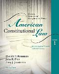 American Constitutional Law: Governmental Powers and Democracy, Volume 1