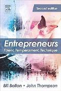 Entrepreneurs Talent, Temperament, Technique