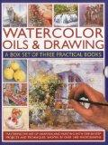 Watercolor Oils & Drawing Box Set: Mastering the art of drawing and painting with step-by-st...