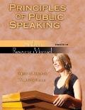 PRINCIPLES OF PUBLIC SPEAKING: STUDENT RESOURCE MANUAL