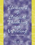 Elements Of Critical Thinking And Writing