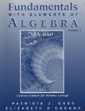 Fundamentals With Elements of Algerbra: Volume 2, 4th Edition (Custom Edition For Monroe Col...