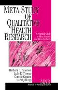 Meta-Study of Qualitative Health Research A Practical Guide to Meta-Analysis and Meta-Synthesis
