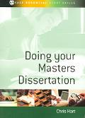 Doing Your Masters Dissertation Realizing your potential as a social scientist
