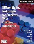 Differentiating Instruction for Students With Learning Disabilities Best Teaching Practices ...