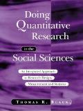 Doing Quantitative Research in the Social Sciences An Integrated Approach to Research Design...