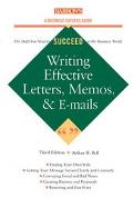 Writing Effective Letters, Memos, and E-Mails