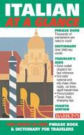 Barron's Italian at a Glance Phrase Book & Dictionary for Travelers