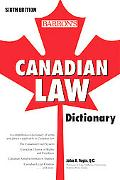 Canadian Law Dictionary, 6th Ed.