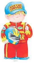 Race Car Driver (Mini People Shape Books Series)