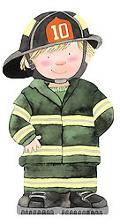 Firefighter (Mini People Shape Books Series)