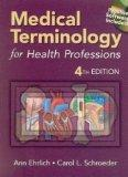 Medical Terminology For Health Professions (book With Cd-rom + Passcode For Website)