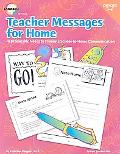 Teacher Messages for Home, Grades 3 to 6