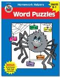 Homework Helper Word Puzzles, Grades K to 1