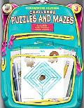 Homework Helper Challenge Puzzles And Mazes, Grade 3