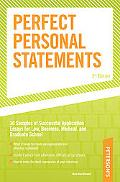Peterson's Perfect Personal Statements Law-Business-Medical-Graduate School