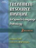 Treatment Resource Manual for Speesh-Language Pathology