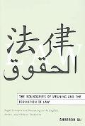 Boundaries of Meaning And the Formation of Law Legal Concepts And Reasoning in the English, ...