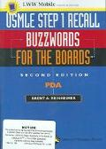 Usmle Step 1 Recall Pda Buzzwords for the Boards